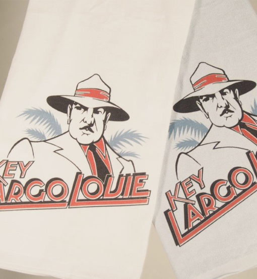 Full Size Beach Towel | Light Blue + White Colors | Key Largo Louie